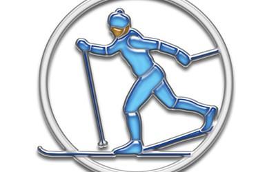 dessin d'une personne faisant du ski de fond